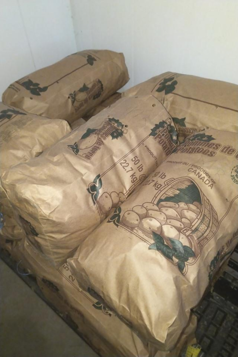 picture of 50 lb bags Red Potatoes